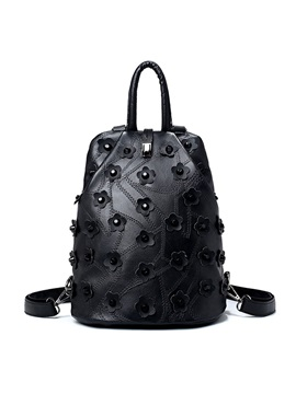Personality Floral Rivets Decoration Womens Backpack