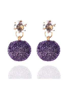 Ball Rhinestone Alloy Ultra Violet Shining Earrings