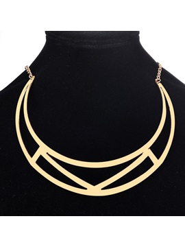 Geometric Hollow Out Alloy For Sweater Necklaces