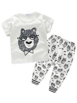 Alpaca Printed Boys T Shirt And Pants