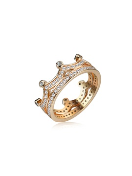 Crown Shinning Stone Alloy Hollow Vintage Rings