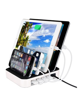 4usb Ports Charging Station With Stand For Iphone Ipad Ipod Samsung