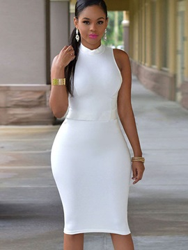 Chic Multi Colored Sleeveless Womens Bodycon Dress