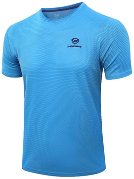 Men Outdoor Run Solid Color T Shirt