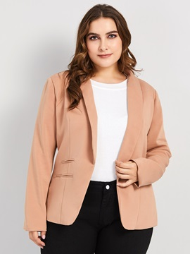 Plus Size Plain Wrapped Blazer
