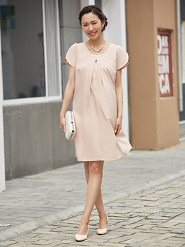 Round Neck Bowknot A Line Party Dress