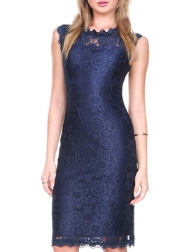 Vogue Multi Colored Sleeveless Womens Lace Dress