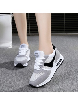 Mesh Lace Up Breathable Platform Womens Sneakers