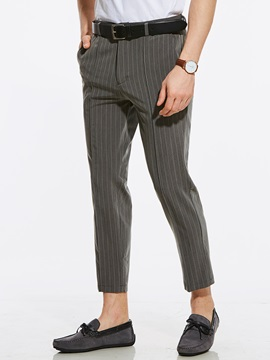 Stripe Straight Mens Casual Pants