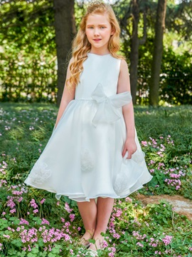 Lovely Straps Sashes Flowers Girls Party Dress