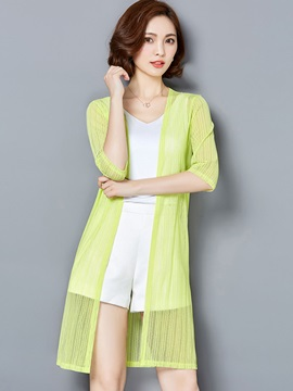 Thin Mesh Plain Trench Coat