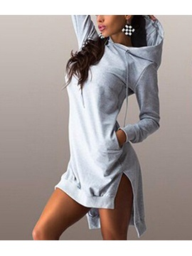 Hoodie Long Sleeves Slim Fit Womens Dress