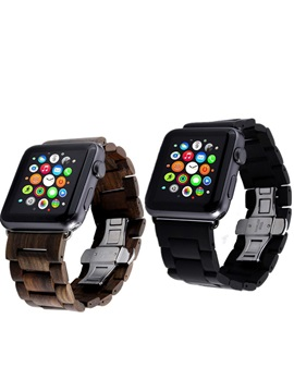 Bocheng Wooden Strap For 38mm 42mm Iwatch Series 2 Smartwatch Tech