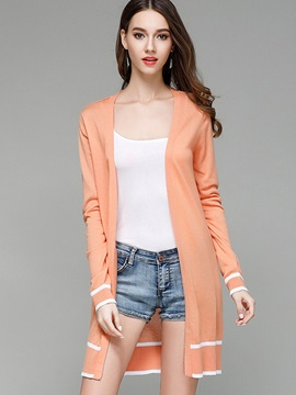 Thin Plain Mid Length Cardigan
