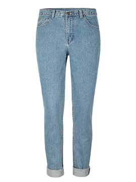 X Large High Waist Washable Straight Leg Jeans
