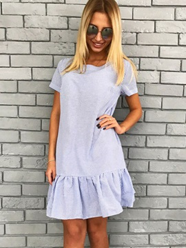 Scoop Short Sleeves Casual Fit Womens Dress