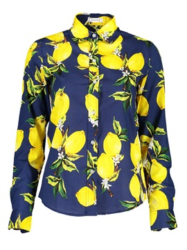 Lapel Lemon Print Shirt