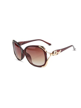 Metal Large Frame Resin Anti Uv Sunglasses For Women