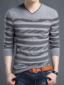 V Neck Slim Leisure Warm Mens Sweaters