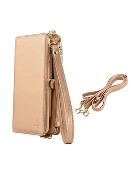 Iphone Samsung Wallet Case Multifunction Pu Case Mini Portable Crossbody Bag