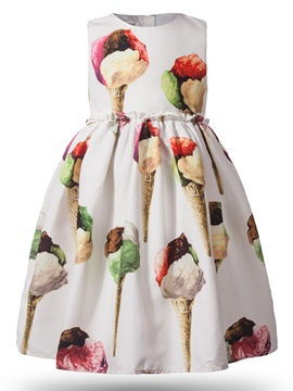 Ice Cream Printing Pattern Girls Dress