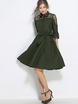 Long Sleeve Womens Skater Dress