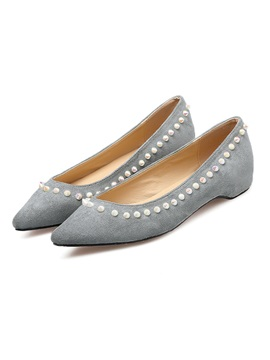 Faux Suede Pointed Toe Hidden Heel Womens Shoes