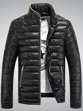 Collar Slim Fashion Leisure Mens Coat