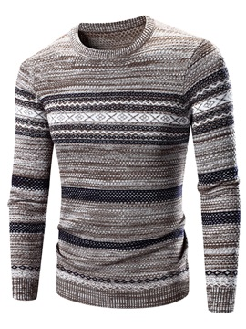 Pullover Slim Long Sleeve Mens Sweater