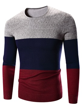 Fashion Leisure Slim Simple Mens Sweater
