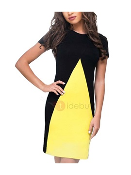 Short Sleeves Womens Bodycon Dress