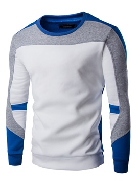 Fashion Bump Color Round Neck Mens Hoodies