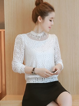 Chic Lace See Through Blouse