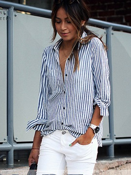 Classical Striped Womens Shirt