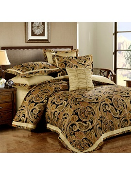 Wannaus Luxury Moroccan Style Cotton 4 Piece Full Size Duvet Cover Sets