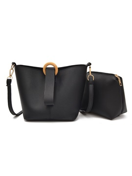 Casual Solid Color Bag Set (2 Bags)