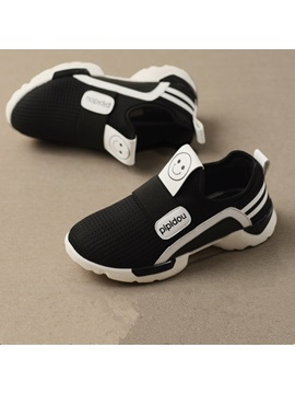 Fashion Ventilate Smile Face Printed Boys Sneaker