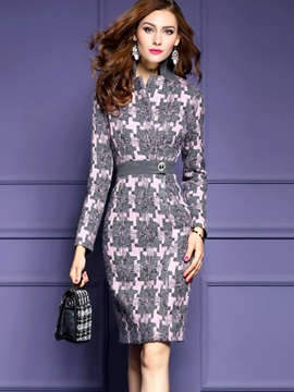 Elegant Long Sleeve Womens Bodycon Dress