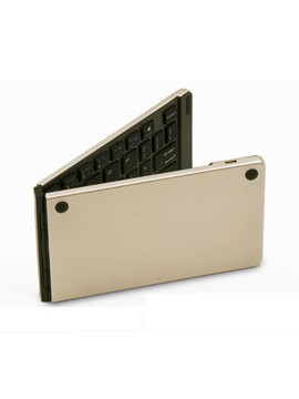 F66 Folding Bluetooth Keyboard Aluminum Alloy Waterproof Keyboard For Ipad Tablet Laptop