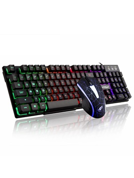 Warwolf Usb Wired Gaming Keyboard Mouse Kit Support Waterproof Backlit For Desktop Hp Lenovo Asus Dell
