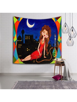 Sexy Girl Taking Rest At Night Ethnic Style Hanging Wall Tapestries