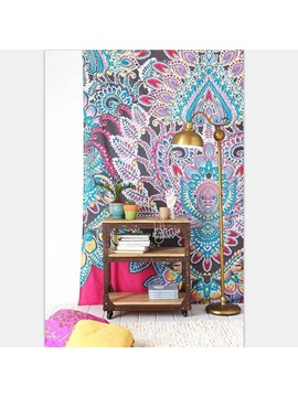 Pink Blue Boho Exotic Style Polyester Hanging Wall Tapestry