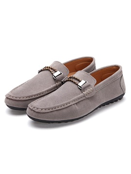 Pure Color Slip On Mens Shoes