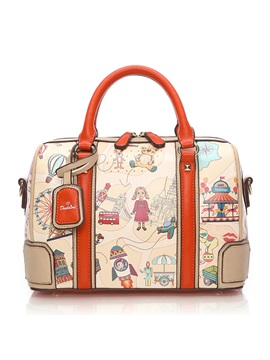 Pillow Type Cartoon Printing Women Satchel