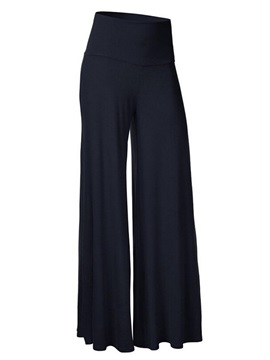 High Waist Loose Solid Color Wide Leg Womens Casual Pants