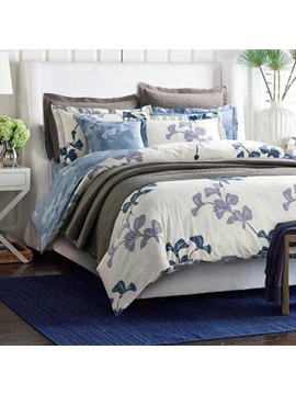 Wannaus Chic American Country Style Cotton 4 Piece Duvet Cover Sets