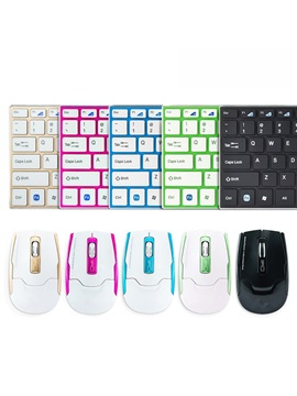Hk3910 Mini Wireless Keyboard Mouse Combo For Laptop Desktop