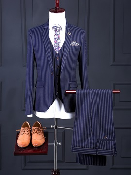 Lapel Three Pieces Slim Long Sleeve Mens Outfits