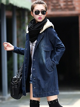 Fall Slim Fashion Long Sleeve Straight Jacket