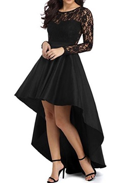 Vogue Black Long Sleeve Womens Dress